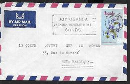 ! -  Uganda - Lettre Avec Timbre YT 92  De La Série 91/96 - Orchidée - Timbre De Valeur Faciale 1'50 - Ouganda (1962-...)