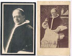 Heiligprentjes: 2 X  Paus Pius XI  (2 Scan's) - Images Religieuses