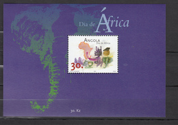 Angola 2001,1V In Block,Dia De Africa,elephant,olifant,elefanten,éléphant,elefante,,MNH/Postfris,(L3235) - Vakantie & Toerisme