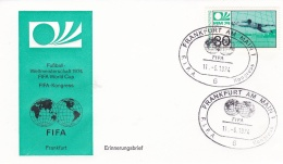 Germany Cover 1974 World Cup FIFA Football Germany - Frankfurt Am Main FIFA Congress (DD10-24) - World Cup