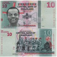 SWAZILAND Newly Issued  10  Emalangeni    Vision 2022   6.9.2015  Pnew  UNC - Swaziland