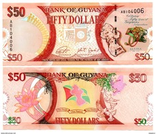 Guyana - 50 Dollars 2016  (UNC) - Guyana