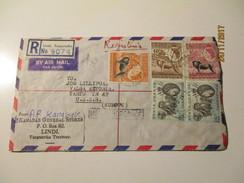 KENYA UGANDA TANGANYIKA 1959 REGISTERED LINDI TO RUSSIA USSR    AIR MAIL COVER  , Oo - Kenya, Uganda & Tanganyika