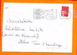 SOMME, Albert, Flamme SCOTEM N° 12645, Ouverture Du Musée Des Abris - Poststempel (Briefe)