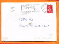 SOMME, Albert, Flamme SCOTEM N° 19883, Batailles De La Somme, 90e Anniversaire - Poststempel (Briefe)