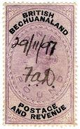 (I.B) British Bechuanaland Revenue : Duty Stamp £1 - Bechuanaland (...-1966)