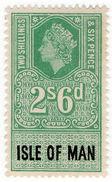 (I.B) Elizabeth II Revenue : Isle Of Man 2/6d - 1952-.... (Elizabeth II)