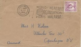 Fight Malaria. Postmark: Hastings 1962. Cover Sent To Denmark.  H-1215 - Enfermedades