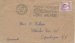 Fight Malaria. Postmark: Hastings 1962. Cover Sent To Denmark.  H-1215 - Disease