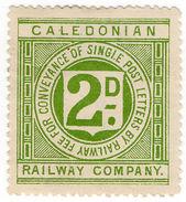 (I.B) Caledonian Railway : Letter Stamp 2d - 1840-1901 (Victoria)