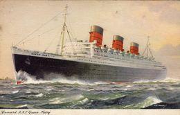 Cunard Line  -  R.M.S. Queen Mary  -  Carte Postale - Paquebots