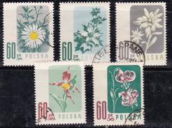 Pologne 1957 N° Y&T : 904 à 908 Obl. - Oblitérés