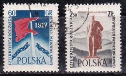 Pologne 1957 N° Y&T : 914 Et 915 Obl. - Oblitérés