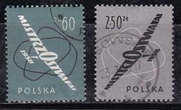 Pologne 1958 N° Y&T : 935 Et 936 Obl. - Oblitérés