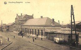 Houdeng-Goegnies - La Gare (animée, Attelage Cheval, Edit. JB Sterki 1920) - La Louvière