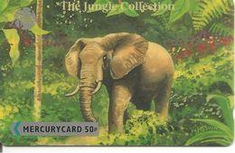 CARTE+GB-MERCURY CARD-50P-THE JUNGLE COLLECTION-ELEPHANT- TBE- - Jungle