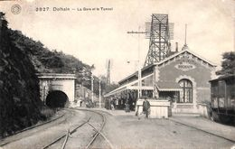 Dolhain - La Gare Et Le Tunnel (animée, G. Hermans, Franchise Militaire, 1918) - Limburg