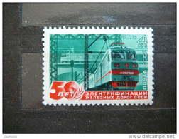 Russia USSR 1976 MNH # Mi.4484 50th Anniversary Of Soviet Railway Electrification.Trains - 1923-1991 URSS