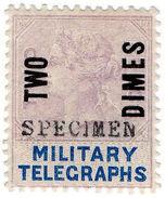 (I.B) QV Telegraphs : Military Telegraphs 2d On 2d OP (Egypt 1887) - 1840-1901 (Victoria)