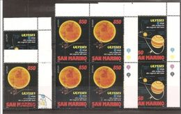 1994 San Marino Saint Marin EUROPA CEPT  EUROPE 5 Serie Di 2v.: Quartina  MNH** + 1usata - Spazio