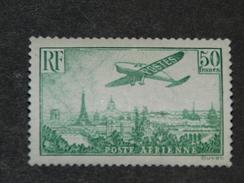 Y&T 14 - XX - 50 Frs Vert-jaune / Groen-geel - Survol De Paris (avec Certificat / Met Certificaat Michaux A.E.I.E.P) - 1927-1959 Neufs