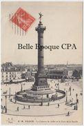 75 - PARIS 04 -- Fleury, #87M -- Colonne De Juillet Et Gare De La Bastille + F.F., #87 M + Circulé Sous Enveloppe Trouée - Lotes Y Colecciones