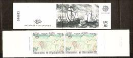 1992 1993  EUROPA CEPT EUROPE Grecia Greece 2 Libretti Europa Di 4v. MNH** 2 Booklets - Europa-CEPT