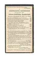 P 157. E.H. ALFONS-G. QUAKKELAAR -Kanunnik POSTEL -°ANTWERPEN 1864 /POSTEL/FREEREN/ZONHOVEN/NEERREPEN/+SINT-MAARTEN 1926 - Images Religieuses