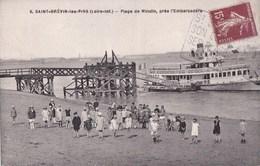 44 SAINT BREVIN  Animation Groupe D' ENFANTS Sur La Plage De MINDIN BATEAU Embarcadère Timbre - Saint-Brevin-l'Océan