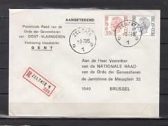 Aangetekende Brief Van Zelzate D1D Naar Brussel - 1970-1980 Elström