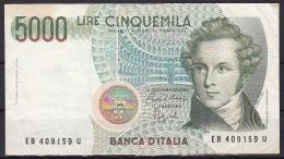 Italy:- 5000 Lire/P.111b (Ciampi/Speziali):- VF - [ 2] 1946-… : Républic