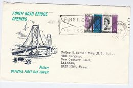 1964 GB FDC Forth Road BRIDGE Stamps SLOGAN Pmk Edinburgh Cover - FDC