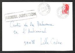 FRANCE '62 LIGNY ST FLOCHEL' 1986  1 OBLITERATION - Marcophilie (Lettres)