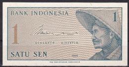 Indonesia:- 1 Sen/P.90 (1964):- UNC - Indonésie