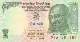 India 5 Rupees 2002 - 2010 UNC - India