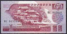 Korea/D.P.R.K:- 1 Won/P.35 (1988/Socialist Visitor Issue):- UNC - Corea Del Nord