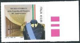 Italia 2017; Museo Storico Della Guardia Di Finanza, Nell' 80° Anniversario. Francobollo Di Bordo Destro. - 6. 1946-.. Repubblica