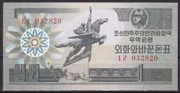 Korea/D.P.R.K:- 1 Won/P.27 (1988/Capitalist Visitor Issue):- UNC - Corea Del Norte