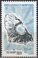 TAAF 2008 Yvert 506 Neuf ** Cote (2015) 2.00 Euro Cartographie De L´île Saint-Paul - Terres Australes Et Antarctiques Françaises (TAAF)