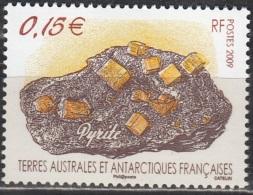 TAAF 2009 Yvert 521 Neuf ** Cote (2015) 1.00 Euro Minéral Pyrite - Terres Australes Et Antarctiques Françaises (TAAF)