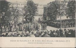 -6-  Palais De Spa - Funérailles De S.M. La Reine Marie-Henriette, Le 22 Septembre 1902 -   2 Scans - Royal Families