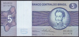 Brazil:- 5 Cruzeiros/P.192c (Series No. B04600):- UNC - Brésil