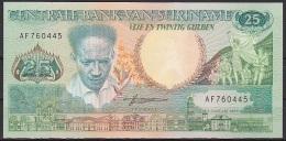 Surimane:- 25 Gulden/P.132b (1988):- UNC - Surinam