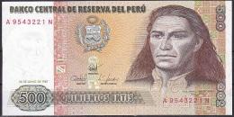 Peru:- 500 Intis/P.134b (1987):- UNC - Peru