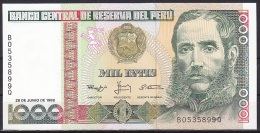 Peru:- 1000 Intis/P.136b (1988):- UNC - Peru