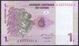 Congo/Democratic Rep.:- 1 Centime/P.80 (1997):- UNC - Congo
