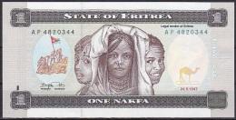 Eritrea:- 1 Nakfa/P.1 (1997):- UNC - Eritrea
