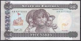 Eritrea:- 5 Nakfa/P.2 (1997):- UNC - Eritrea