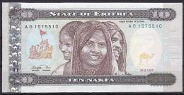 Eritrea:- 10 Nakfa/P.3 (1997):- UNC - Eritrea