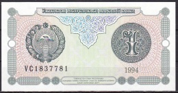 Uzbekistan:- 1 Sum/P.73 (1994):- UNC - Uzbekistan
